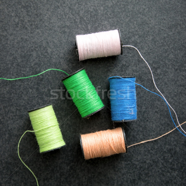 several spools of colorful thread Stock photo © nessokv