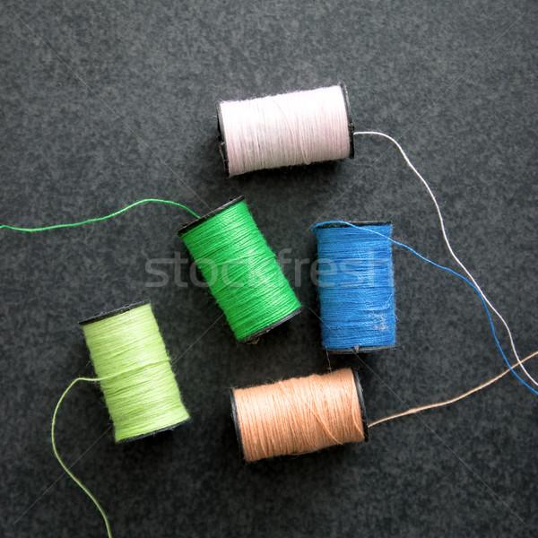 Vários colorido fio verde Foto stock © nessokv