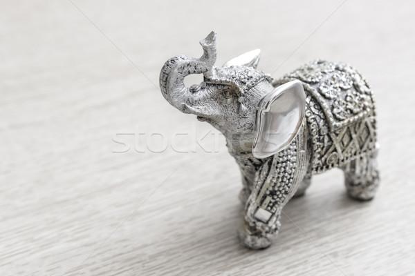 индийской слон статуэтка деревянный стол модель Сток-фото © nessokv