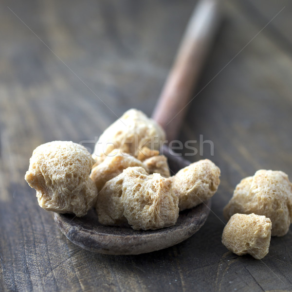 Raw Soya Chunks (Soy Meat) Stock photo © nessokv