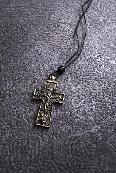 Simplu creştin trece colier ruga Imagine de stoc © nessokv