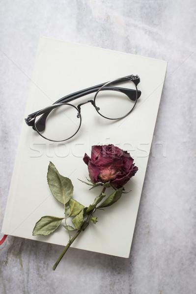 Livre belle séché rose verres fleur Photo stock © nessokv