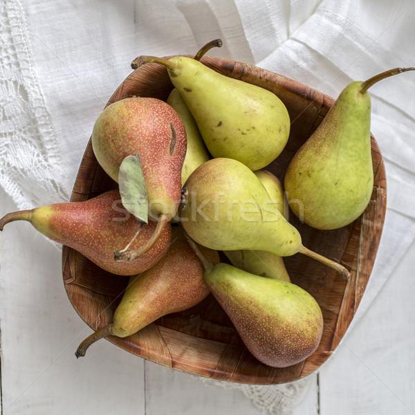 梨 白 木製のテーブル 新鮮な フルーツ 梨 ストックフォト © nessokv