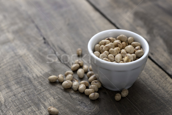 roasted soybeans in  bowl Stock photo © nessokv
