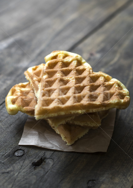 Home made heart shaped waffles  Stock photo © nessokv