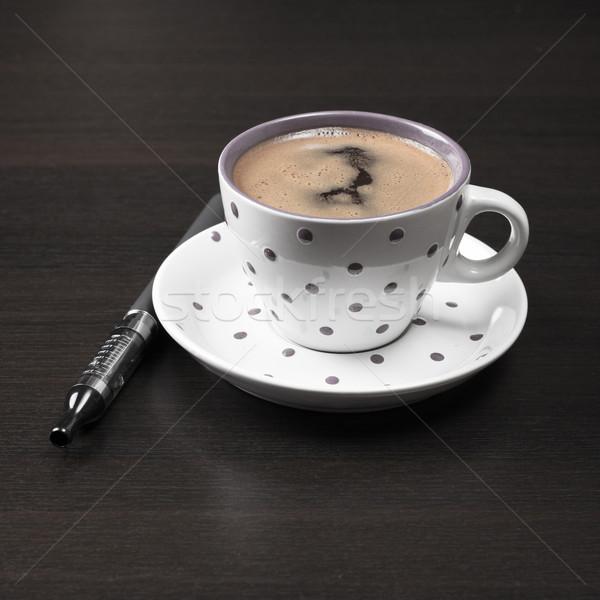Kávéscsésze asztal kávé fekete szín tér Stock fotó © nessokv