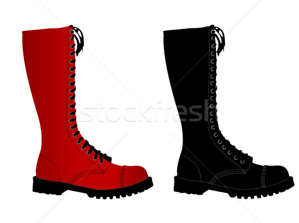Punk stivali vettore giovani oggetto boot Foto d'archivio © Nevenaoff
