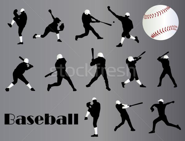 Beysbol oyuncular spor arka plan eğlence takım Stok fotoğraf © Nevenaoff