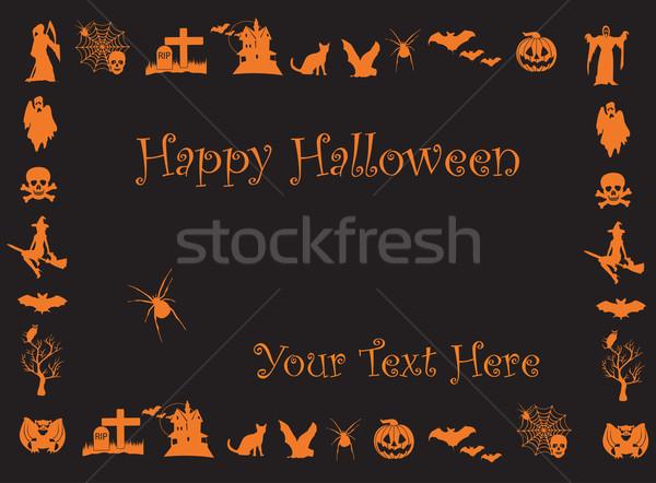 Halloween elementi albero party design luna Foto d'archivio © Nevenaoff