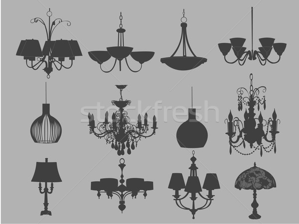 Chandeliers and lamps Stock photo © Nevenaoff