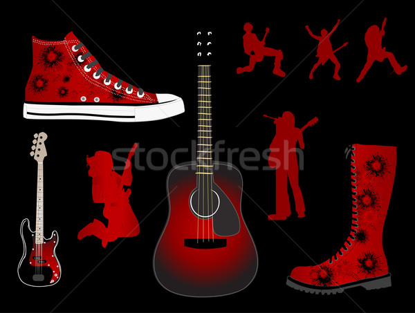 альтернатива моде музыку фон рок черный Сток-фото © Nevenaoff