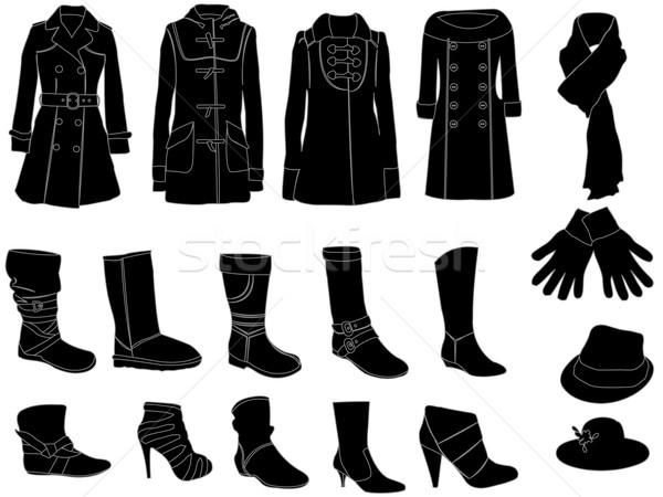 Kış moda elemanları ayakkabı bayan Stok fotoğraf © Nevenaoff