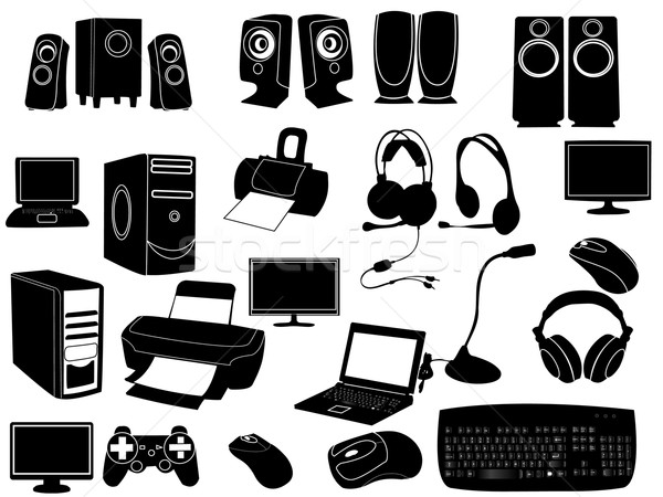Bilgisayar elemanları vektör teknoloji klavye web Stok fotoğraf © Nevenaoff