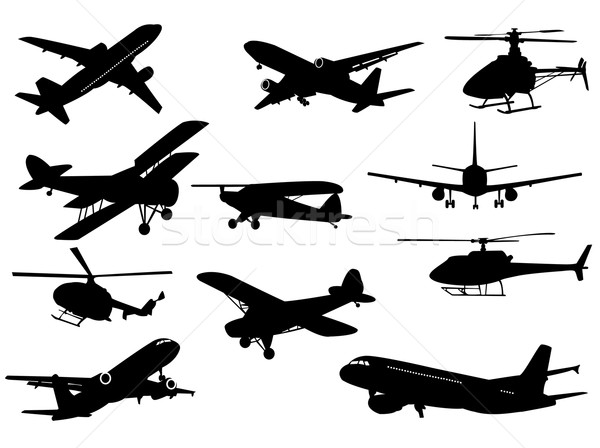Airplanes sand helicopters Stock photo © Nevenaoff