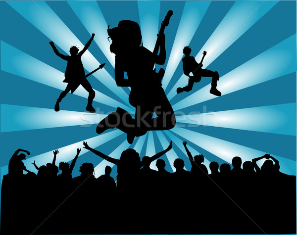 Rock band kalabalık sahne bant serin yaşam tarzı Stok fotoğraf © Nevenaoff
