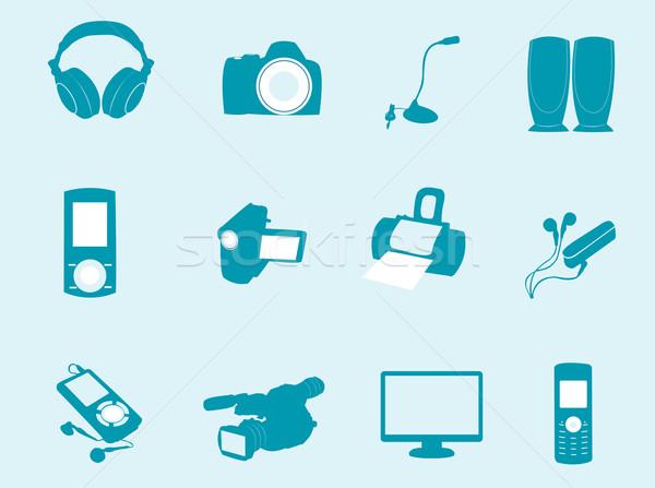 Teknoloji simgeler iş müzik telefon Stok fotoğraf © Nevenaoff