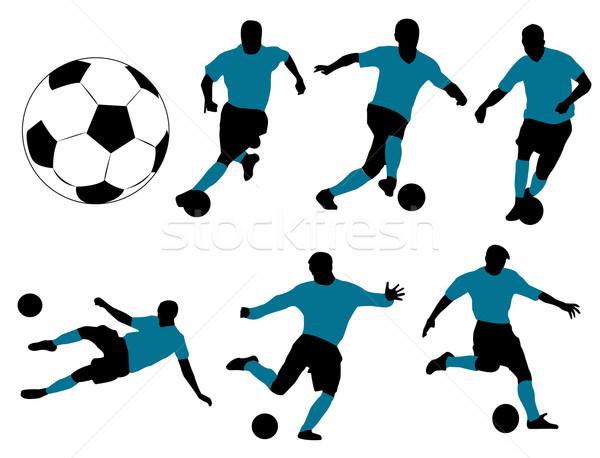 Futbol oyuncular vektör geri dengelemek yalıtılmış Stok fotoğraf © Nevenaoff