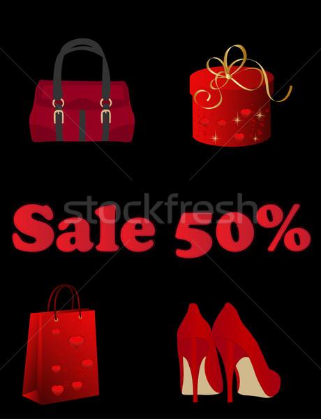 Alışveriş zaman satış elemanları soyut çanta Stok fotoğraf © Nevenaoff