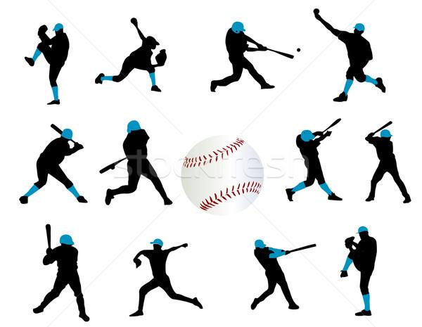 Baseball giocatori vettore sport sfondo divertimento Foto d'archivio © Nevenaoff