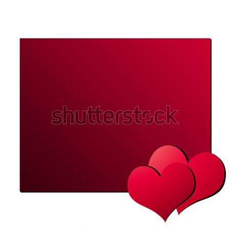 バレンタインデー カード 実例 コピースペース 幸せ デザイン ストックフォト © newt96