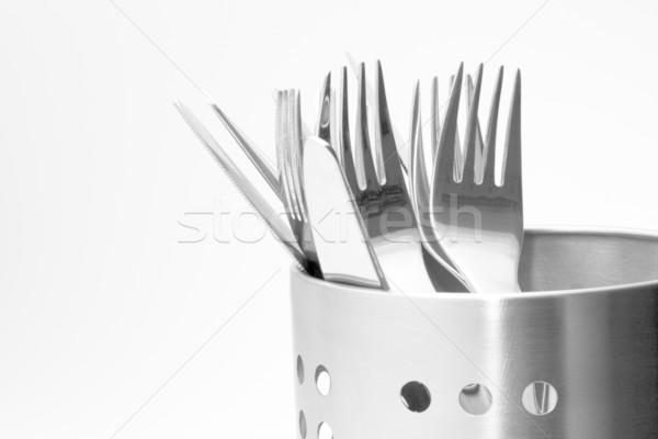 カトラリー 詳しい 表示 洗練された アルミ ストックフォト © newt96