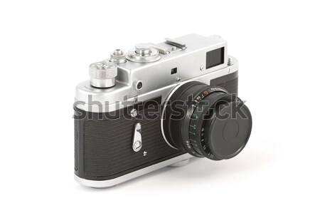Oude analoog camera zuiver witte Stockfoto © newt96