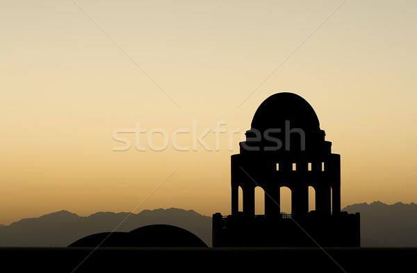 モスク シルエット 日没 コピースペース 建物 背景 ストックフォト © newt96
