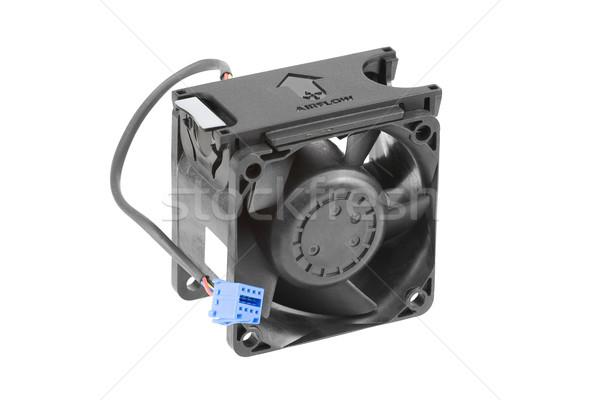 Fekete műanyag hűtés ventillátor merő fehér Stock fotó © newt96