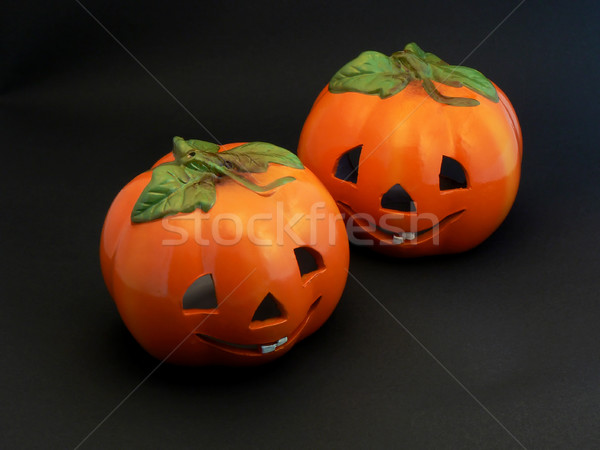 Two Halloween Pumpkins Stock photo © newt96