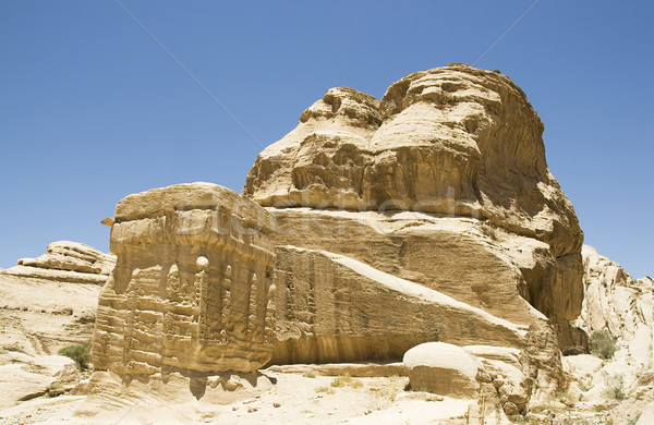 Ancient Rock Formation in Jordan Stock photo © newt96