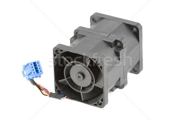 Resfriamento ventilador poderoso dois isolado Foto stock © newt96