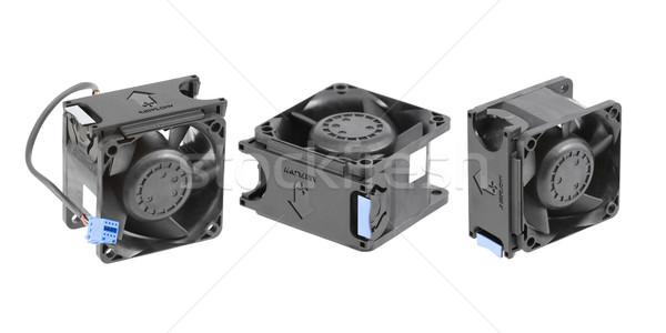 黒 プラスチック 冷却 ファン 3  異なる ストックフォト © newt96