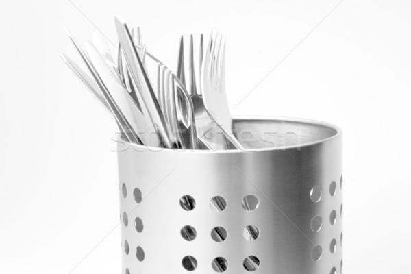 Sztućce zestaw obyty stali luksusowe Zdjęcia stock © newt96