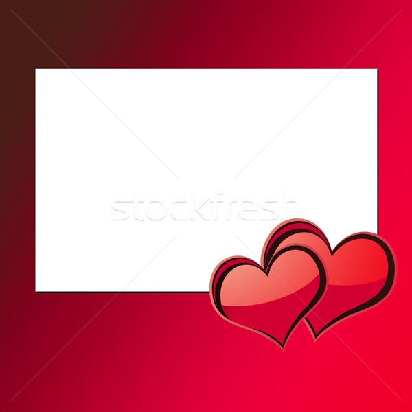 Walentynki karty ilustracja kopia przestrzeń szczęśliwy projektu Zdjęcia stock © newt96