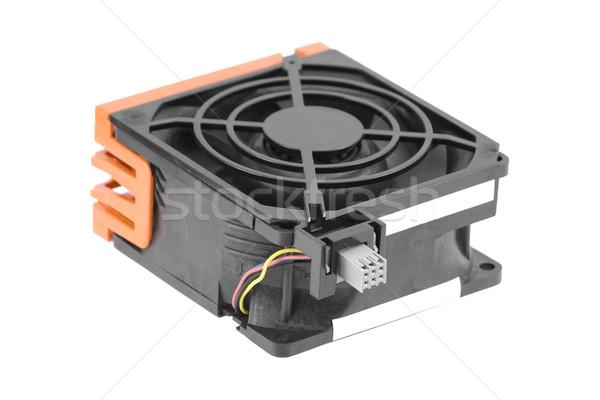 Grande resfriamento ventilador usado servidor isolado Foto stock © newt96