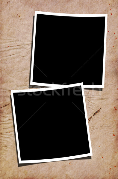 Blank Photographs on Stained Paper Background Stock photo © newt96