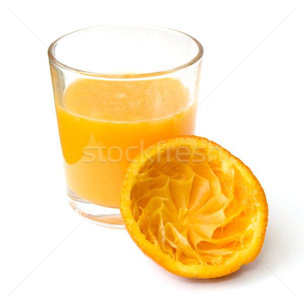 オレンジジュース ガラス 新鮮な オレンジ果実 孤立した ストックフォト © newt96