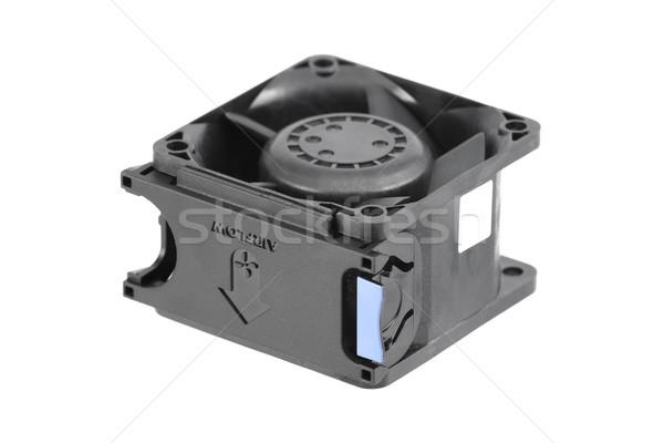 Plástico resfriamento ventilador preto usado pessoal Foto stock © newt96