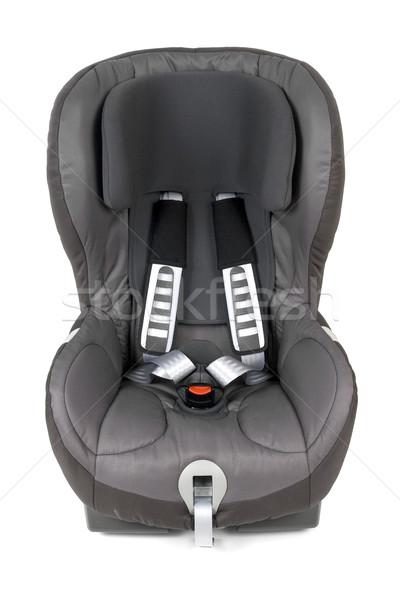 Elöl kilátás biztonság autó ülés izolált Stock fotó © newt96