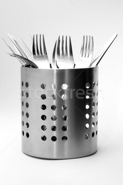 カトラリー セット 銀 キッチン フォーク ストックフォト © newt96