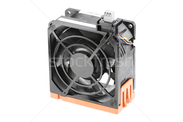 Refroidissement fan noir serveur orange industrie Photo stock © newt96