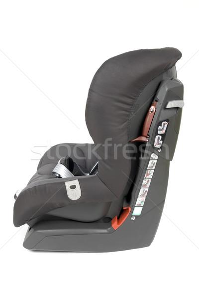 Zijaanzicht veiligheid auto zitting grijs bruin Stockfoto © newt96
