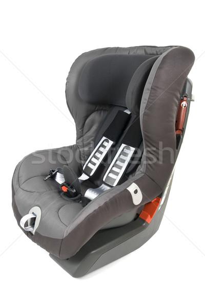 Stock fotó: Izolált · biztonság · autó · ülés · gyerekek · fehér
