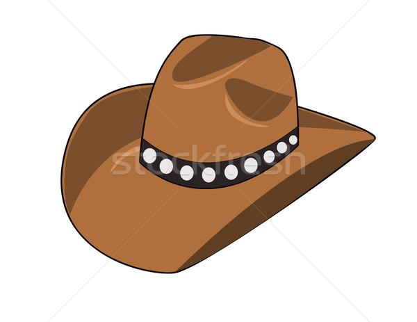 Illustration of a cowboy hat Stock photo © nezezon