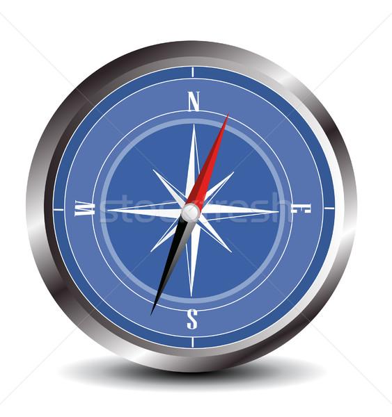 Bússola estrada viajar navio estrela retro Foto stock © nezezon