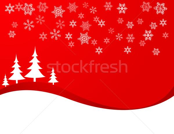 Noël ciel arbre star imprimer couleur Photo stock © nezezon