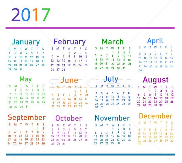Calendário projeto gráfico plano diário evento Foto stock © nezezon