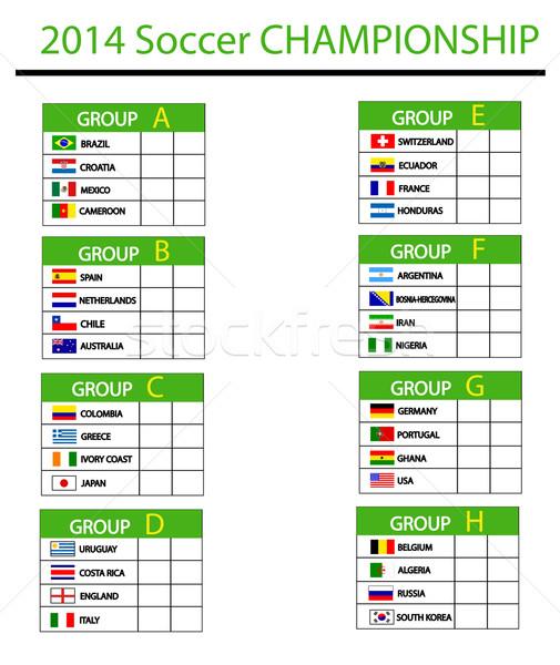 Fútbol campeonato 2014 fondo grupo taza Foto stock © nezezon