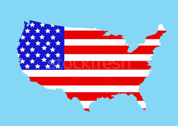 Eua mapa mundo cor américa ilustração Foto stock © nezezon