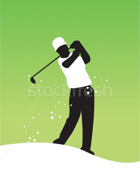 Zdjęcia stock: Wektora · golf · charakter · projektu · kraju